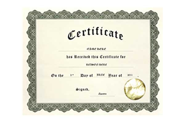 Geographics Certificates