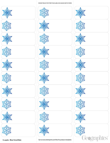 Snowflakes-Christmas-Mailing-Labels-Blue-Foil-Geographics