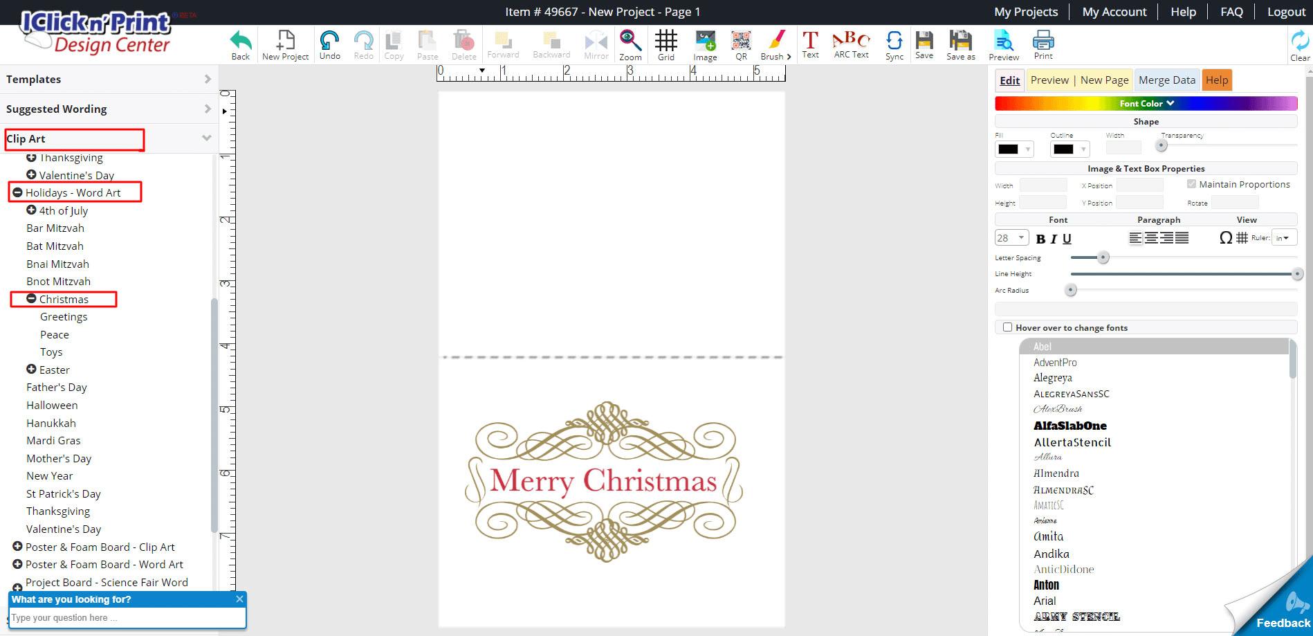 iclicknprint-Christmas-wordart-merry-christmas