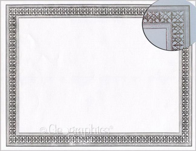 Flourish Silver Foil Printable Certificates Geographics