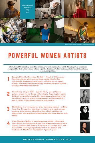 women artists geographics international women s day